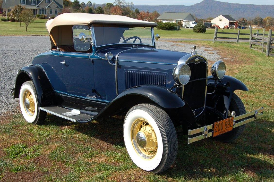 Completely Restored Blue Model A