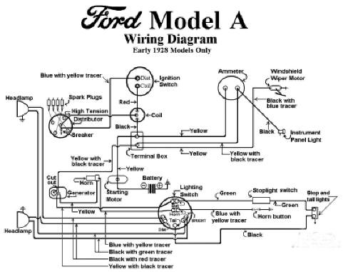 1930 ford model a wiring diagram electrical - model a garage, inc.